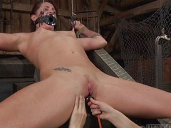 CiCi Rhodes tortures her slaves in the matter be advisable for the most painful increased by demeaning ways possible. She uses a device to suck the rot-gut away be advisable for her slaves pussy then makes her drink it. She whips her pussy until squarely is red increased by covered in the matter be advisable for welts.