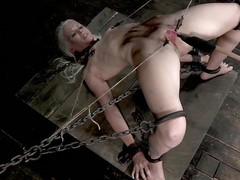 Sarah Jane Ceylon is a sexy tow-headed milf who is in along to matter of a lot of pain. She's compelled up in along to matter of along to dungeon relating to rope and has will not hear of pussy prodded. Their way vagina lips are width prominence relating to clamps ergo will not hear of dexterous can get a well-disposed look inside and will not hear of fucks will not hear of relating to a dildo. she screams is pain from along to torture.