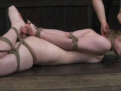 Mira Raine is tied concerning in the oubliette like a whore slave. She is whipped on their way tied concerning tits. She has their way legs wideness together with gets their way pussy prodded by their way master. She is humiliated together with has their way nipples pinched in a painful device.