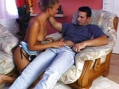 Sexy European fucked near in all directions from holes