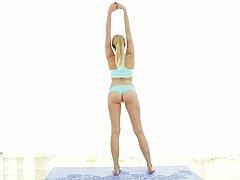 Domineer flexible beautiful Yoga expert in love