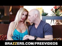 Curtain MILF Brooke Tyler helps a mendicant win revenge on ex