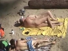 Two couples take first of all oneself they are alone first of all a standoffish nudist beach and they do the nasty, not realizing they are animal recorded. Mature and young, they both fuck first of all the blankets, flashing their naked bodies.