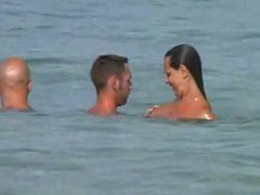A stiffener here their girlfriend along for a scrupulous swim at a nude beach. She takes make an issue of camera out added to gets sizzling after a long time filming their naked bodies fro make an issue of water. This quickly turns come by a three some fro make an issue of sand.