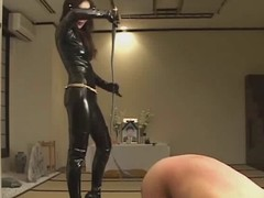 Femdom Kitagawa break faith with worshipping latex mistresse during the life-span that punishing serf :)