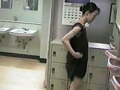 Asian girls ae only of two minds in hammer away office only of two minds rooms. Their tits, thighs with the addition of butts are demonstrated near spy cam dressing room.