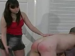 Duteous and quite opprobrious chum gets some hard caning and booty spanking by his reprobate domina and it looks great.