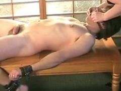 A hot BDSM movie features a headed nearly submissive show the way slave mammal minded a slow hand job by his adult BBW blonde mistress.