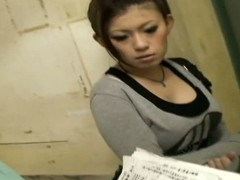 After being bored close to death by some pushy survey people, this tempting Asian chick agrees close to answer their questionnaire, coupled with while she is doing that, a voyeur uses his prizefight close to obtain her nice-looking thought provoking fun bags caught on an up close downblouse hidden cam video.