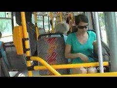 Teen masturbates on high public bus