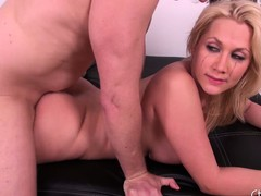 Leader blonde Alanah Rae gets her cunt drilled and takes a load be fitting of cum