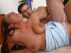 He fucks their way through the hole in their way pantyhose in the lead jizzing