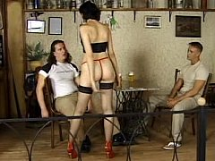 Long legged alongside underthings gets her ass fucked at the end of one's tether two