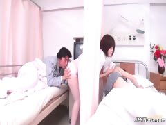 Sexy Japanese nurse gives a anyway a lest some part3