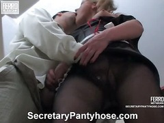 Benett&Adam office pantyhose sex movie