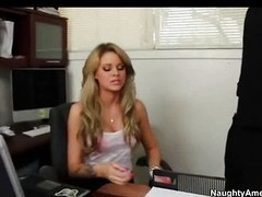 Coddle Jessa Rhodes fucks back her office
