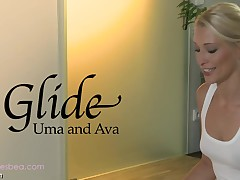 Ava and Uma's awesomely wet and slippery massage sensation