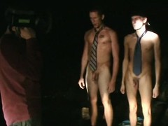 Straight college lads caught making out on tape