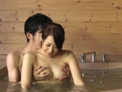 Japanese janitor gives a speculate blowjob almost a bathroom