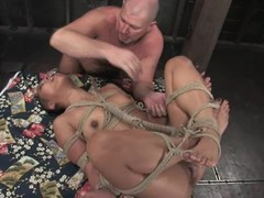 Bald Asian sex doll Max is procurement tortured and penetrated