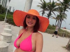 Milf on every side huge melons is loving a huge cock