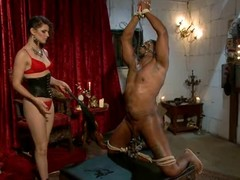 Mistress Bobbi Starr tortures one of her slaves