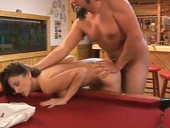 Intercourse vulnerable the pool enter with a charming milf