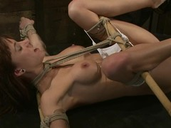 Two huge things penetrate her twat added to ass in thraldom