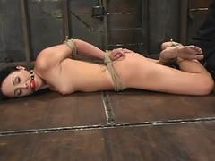 Bound Alexa Von Tess gets her interior tormented in BDSM peel