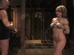 Slutty Tyla Wynn gets tortured and fucked on every side a wooden cabin