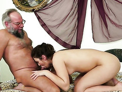 Redhead Hadjara gets her dripping wet twat rammed