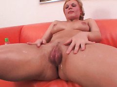 Klara fulfills her sexual desires with mans rock hard meat bank there her wet spot