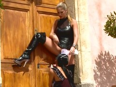 Lesbo dominatrix spanks hot sheila