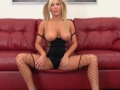 Sexy black lingerie aloft blonde Tasha Reign