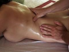 Telling playgirl salacious massage makes stud's penis hard get pleasure from hell