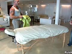 Sexy hunk gets his traumatic anal canal explored by masseur