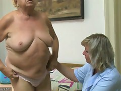 Chubby granny, spacious slit, spacious scoops and sextoy