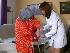Chubby Grannma and her girlfriend big beautiful woman Nurse shot unstinted fun